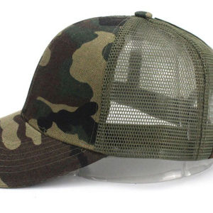 Camo Ponytail baseball caps